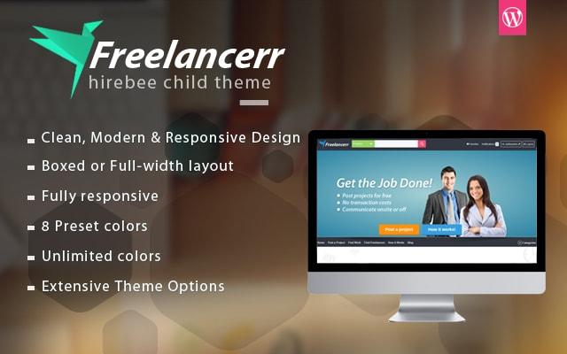 Freelancerr Child WordPress Theme for Freelance Marketplace