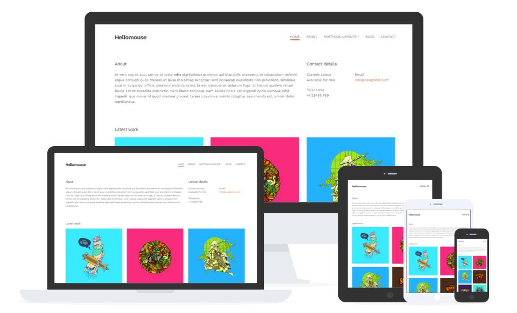 Hellomouse WordPress Minimal Portfolio Theme