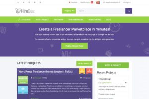 HireBee freelance marketplace theme for WordPress