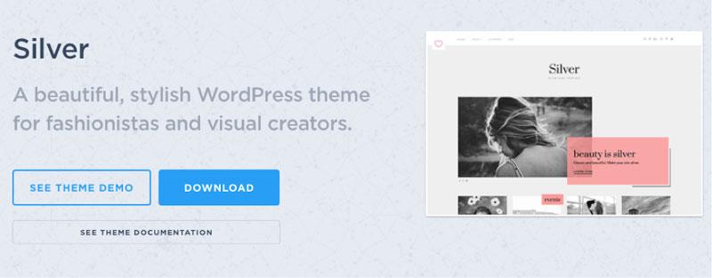 Silver WordPress Fashion Blogger Theme