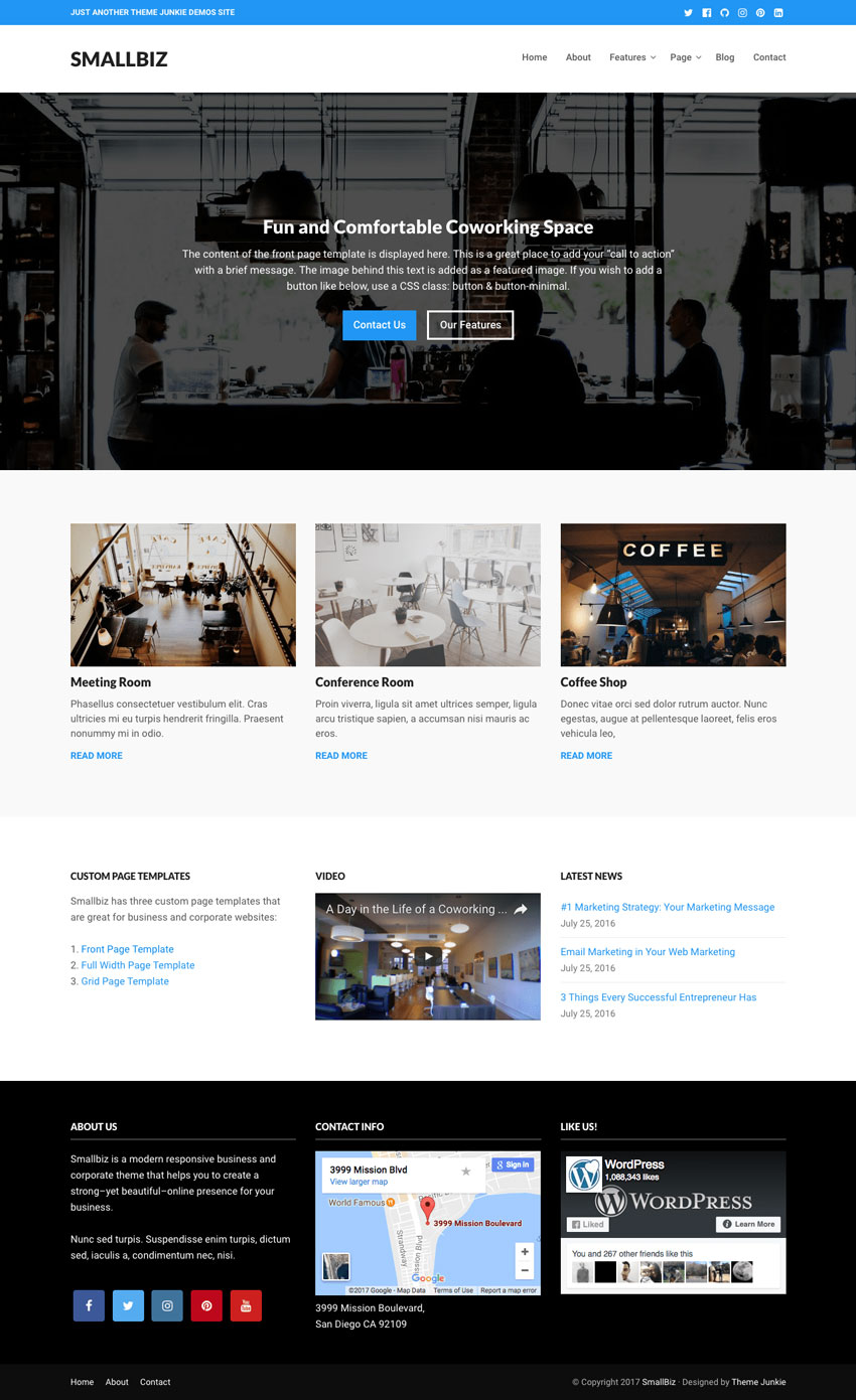 Smallbiz WordPress Business Theme