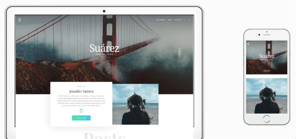 Suarez WordPress Creative Bloggers Theme
