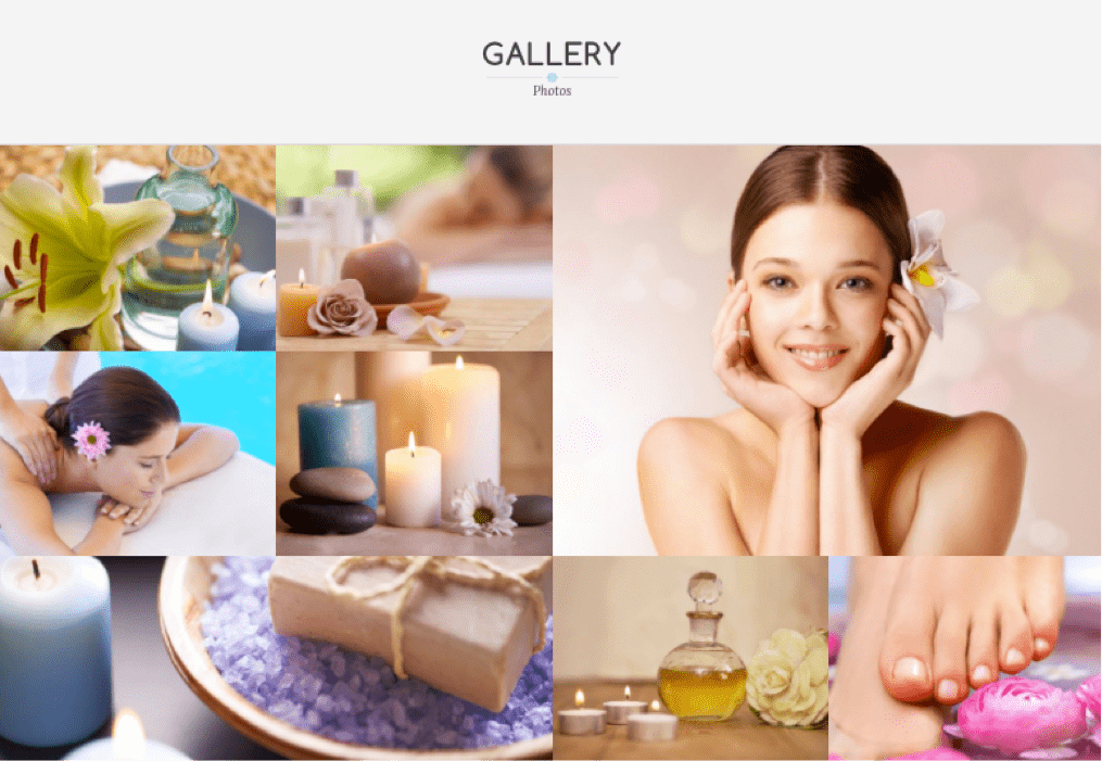 Ultra Spa Skin Theme - Gallery Section