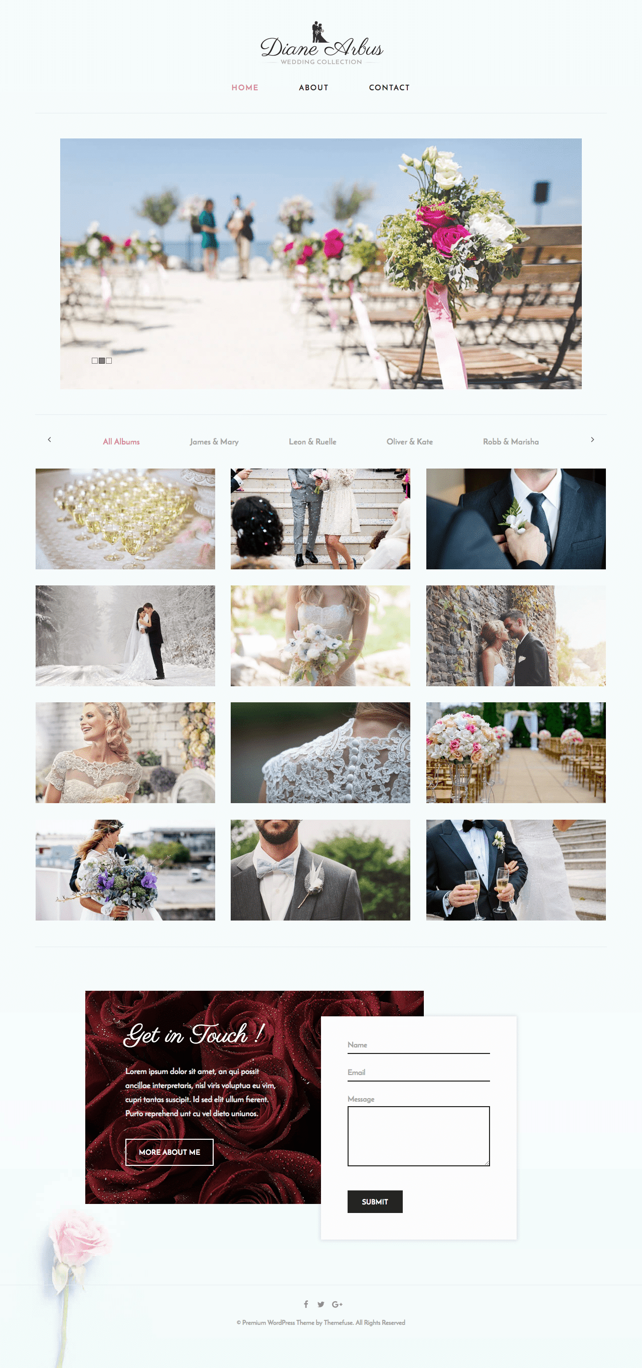 Shutter Wedding Photography WordPress Theme