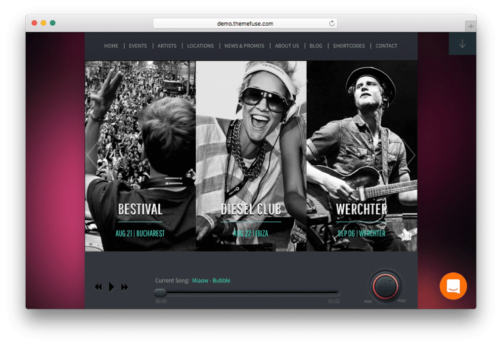 Beat Heaven Music WordPress Theme