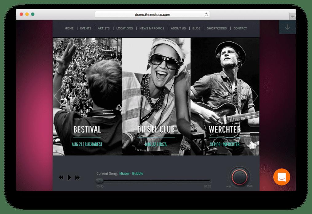 Beat Heaven Music WordPress Theme
