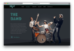 Beat OnePage Music & Band WordPress Theme