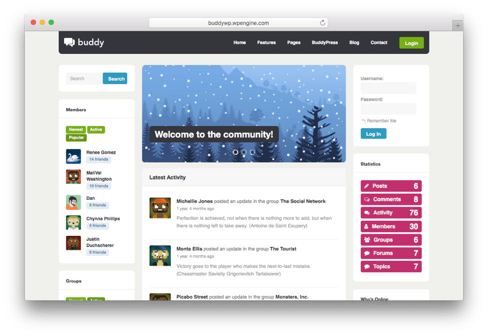 Buddy Multi-Purpose BuddyPress Theme