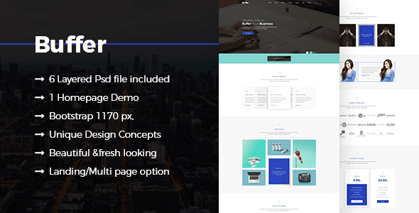 Buffer Corporate Business PSD Template
