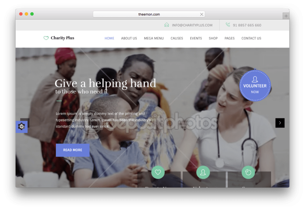 CharityPlus Non-Profit Non-Government Theme