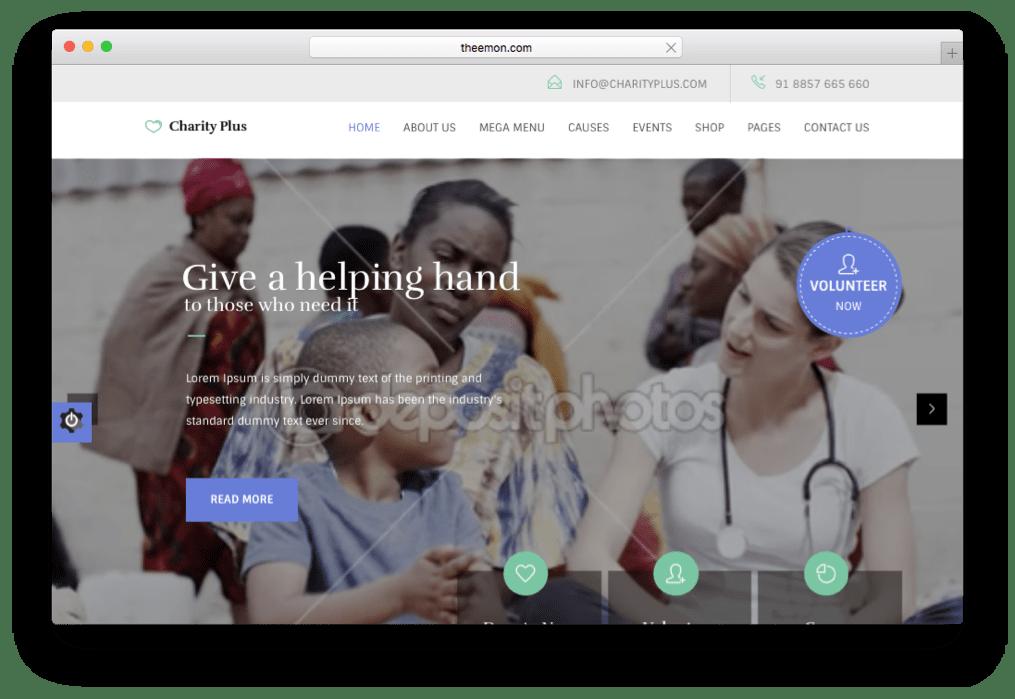 CharityPlus Non-Profit Non-Government Theme