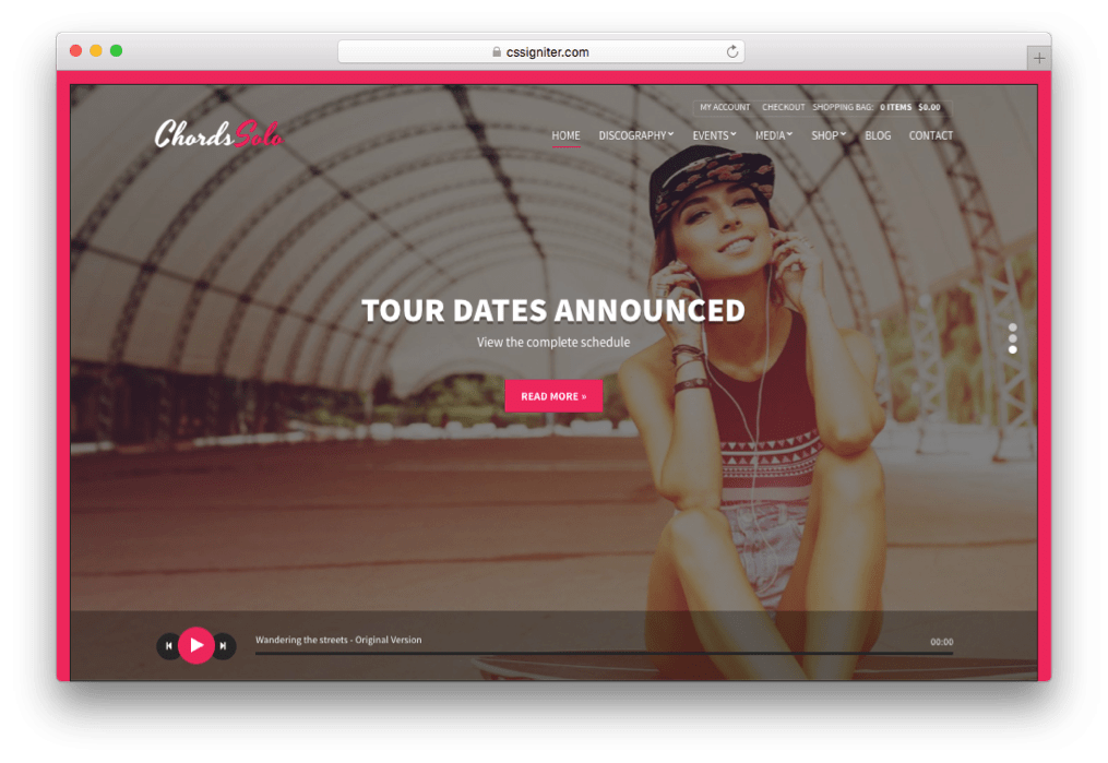 Chords Artist Radio WordPress Music theme