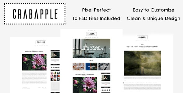Crabapple PSD Template