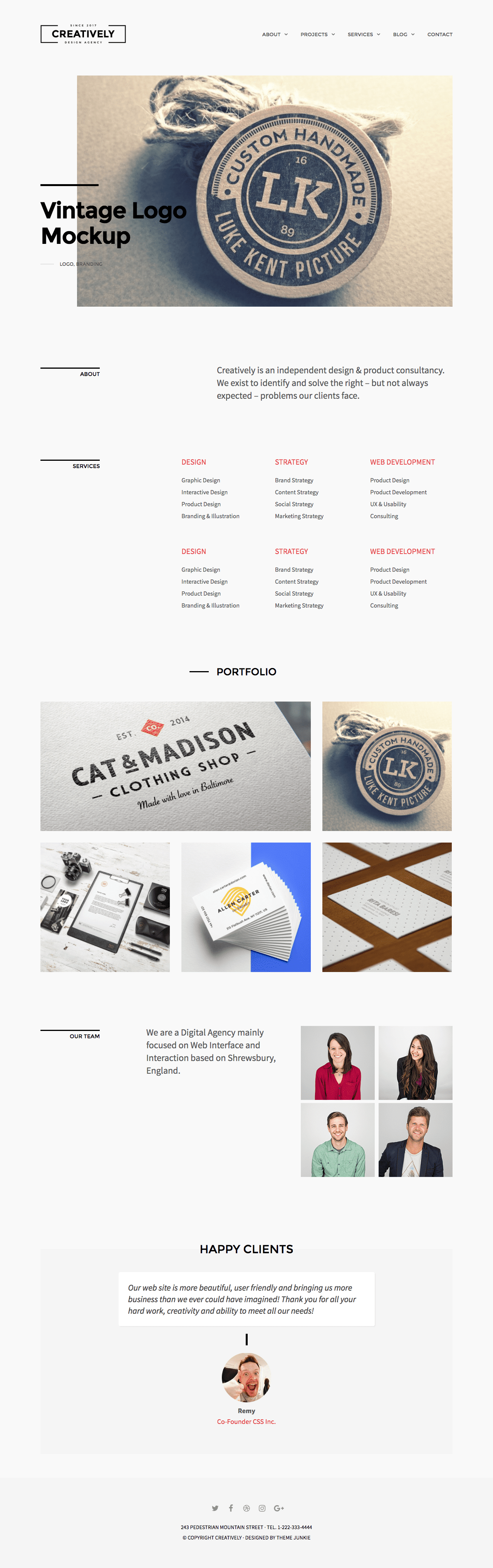 Creatively WordPress Minimal Business Theme
