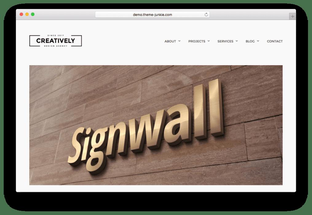 Creatively WordPress Portfolio Business Theme