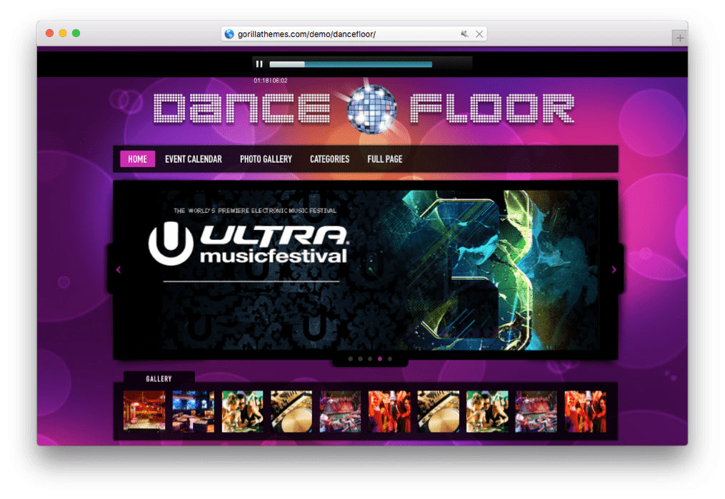 Dance Floor DJ WordPress Theme