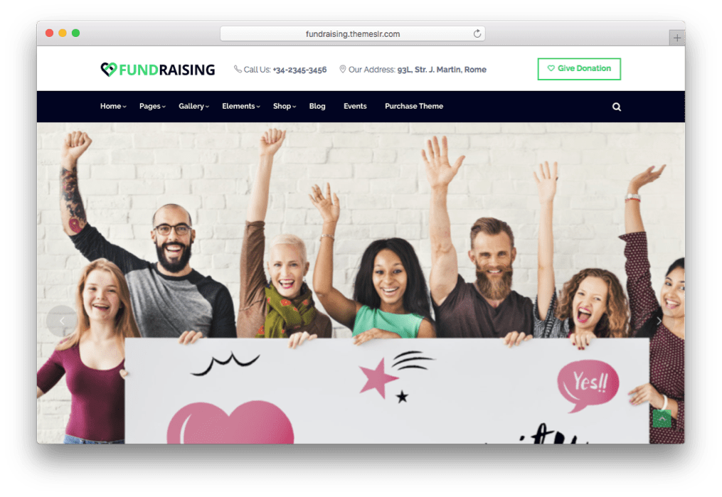 Fundraising Charity Donations WordPress Theme