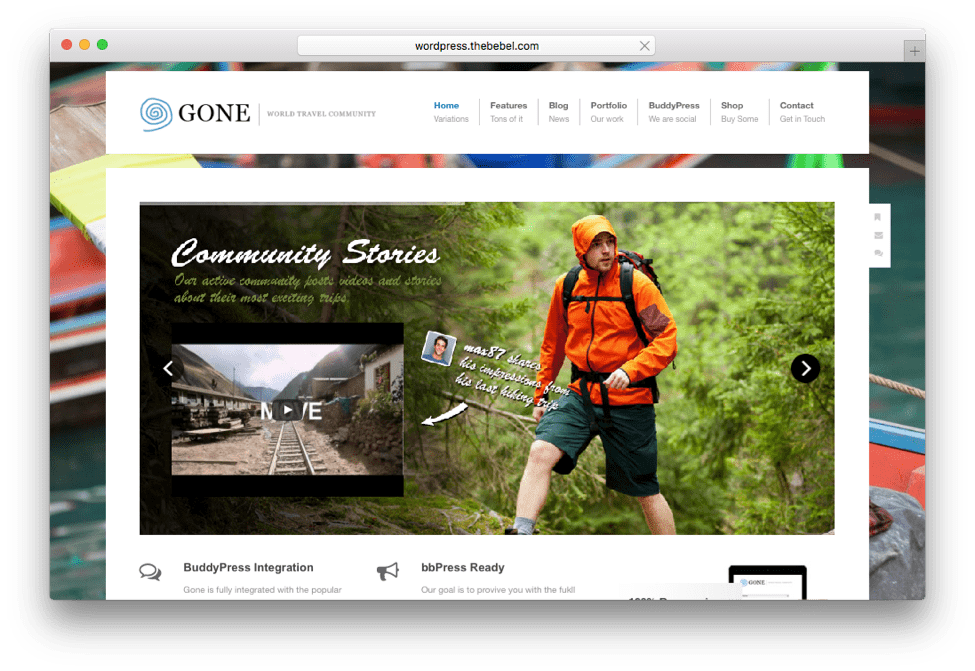 Gone WordPress Social Community Theme