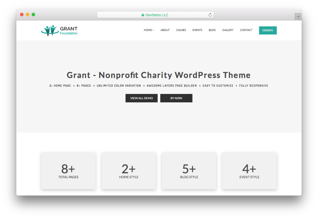 Grant Foundation Charity WordPress Theme