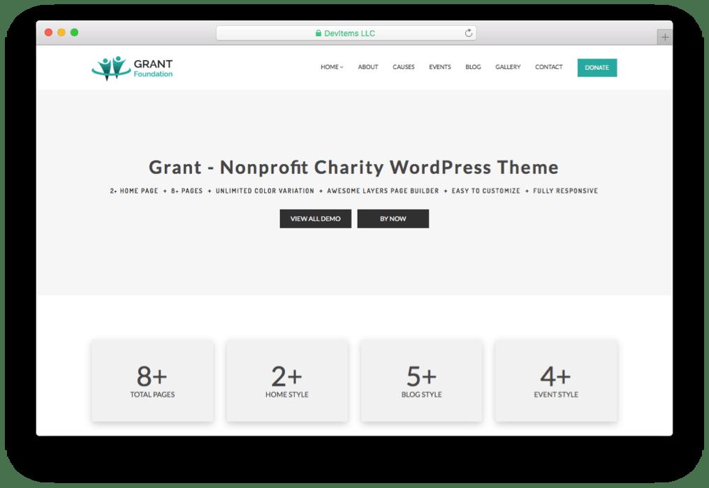 Grant Foundation Charity WordPress Theme