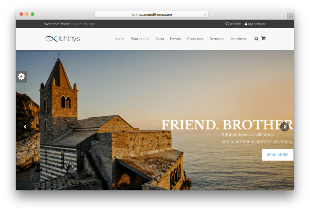 Ichthys Church & Charity WordPress Theme
