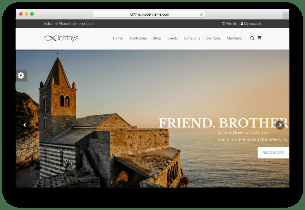 Ichthys Church & Charity WordPress Theme