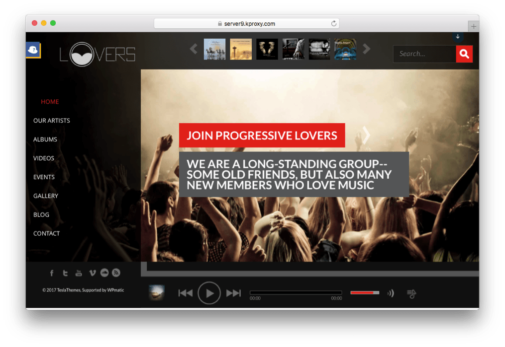 Lovers Premium Music WordPress Theme