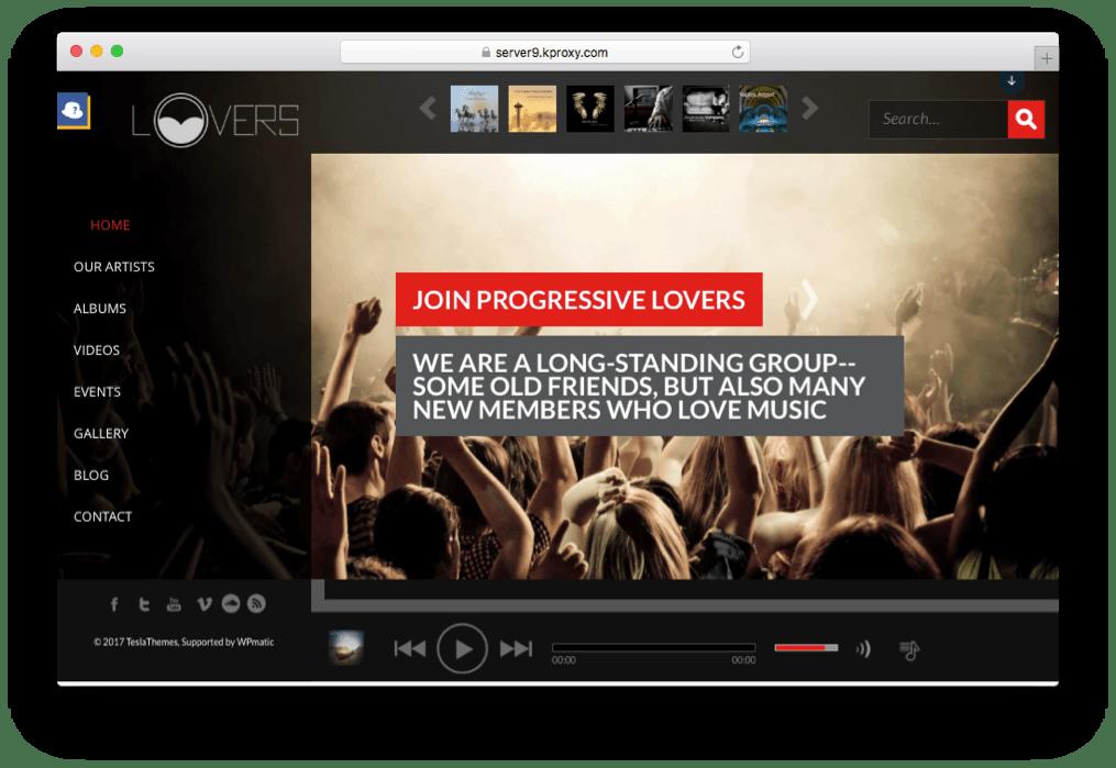 Lovers Premium Music WordPress Theme