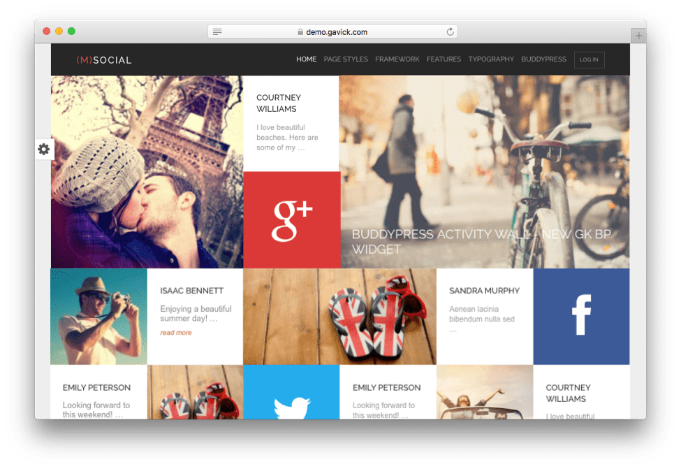M Social Network BuddyPress Theme