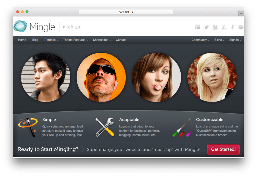 Mingle Multi-purpose WordPress Theme