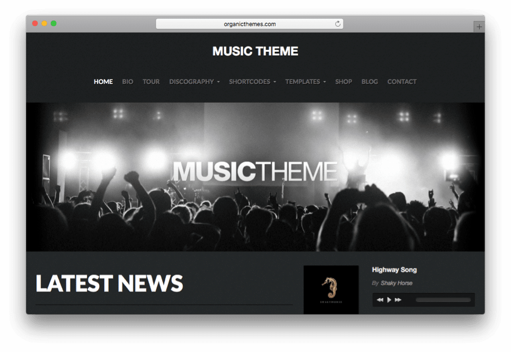 Music Theme for Play, Promote & Sell by OrganicThemes