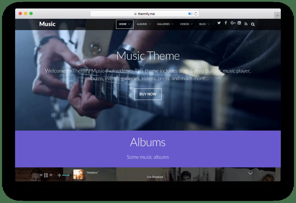 Music WordPress Theme by Themify