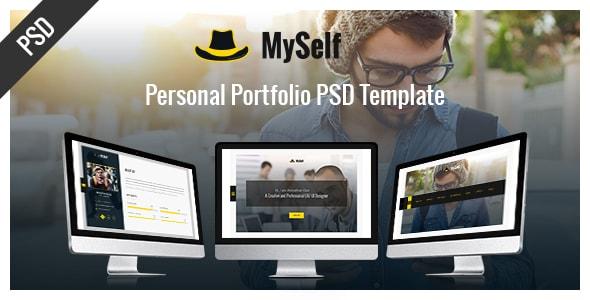 Myself-portfolio PSD Template