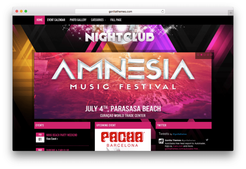 Nightclub WordPress Bars & Festival Event Theme