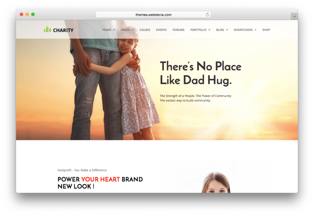 Nonprofit Charity Organization WordPress Theme