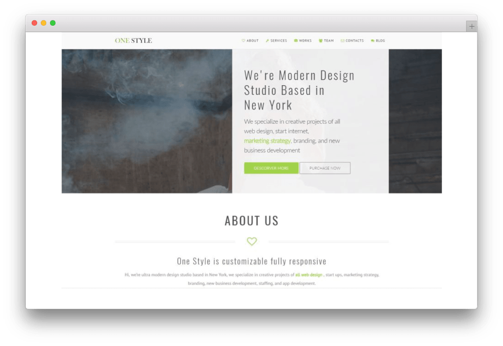 One Style One Page Parallax Theme
