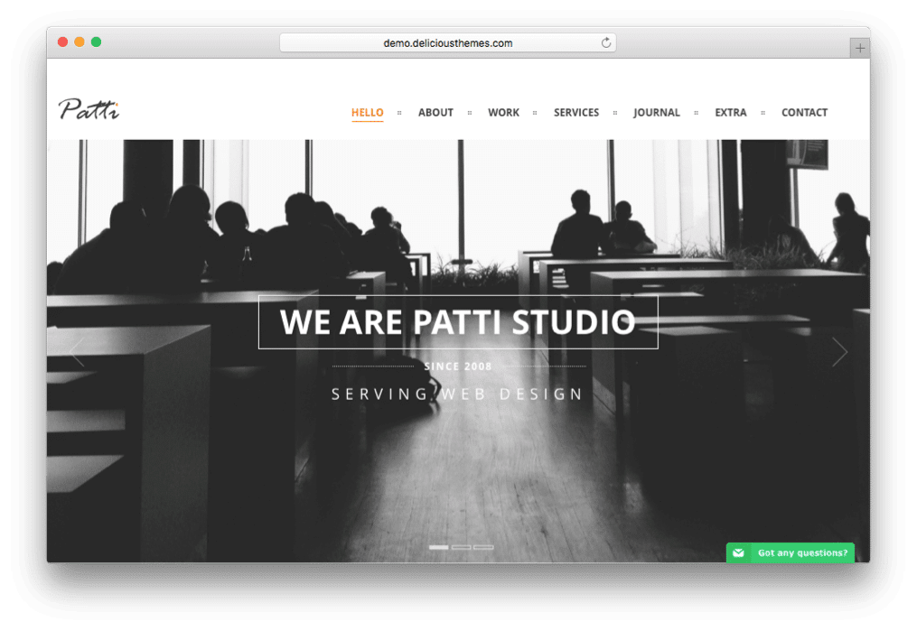 Patti Parallax One Page WordPress Theme
