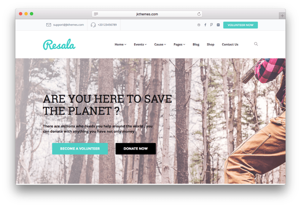 Resala Crowd funding WordPress Theme