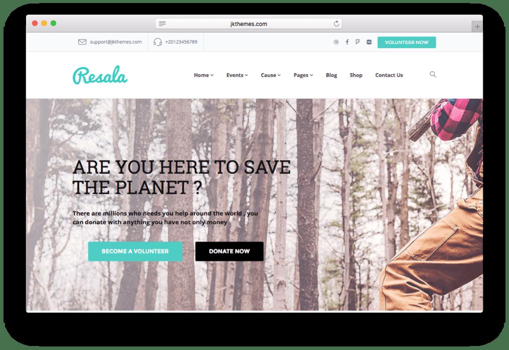 Resala Crowd funding WordPress Theme