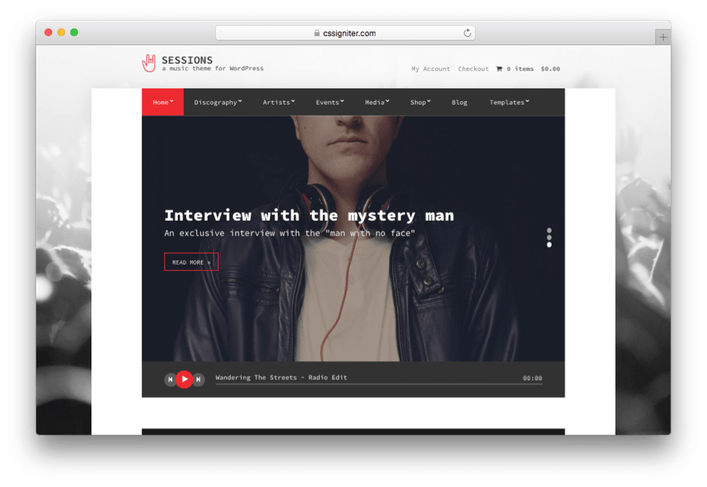 Sessions WordPress DJ & Nightclubs Theme
