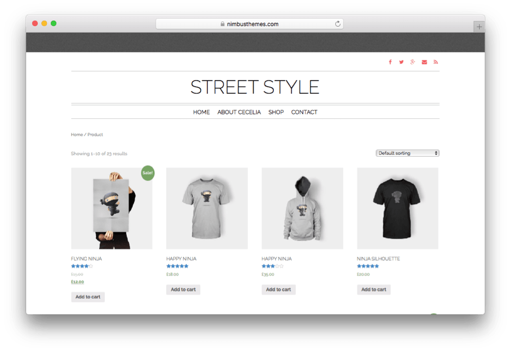 Street Style One Page WordPress Fashion Store Theme