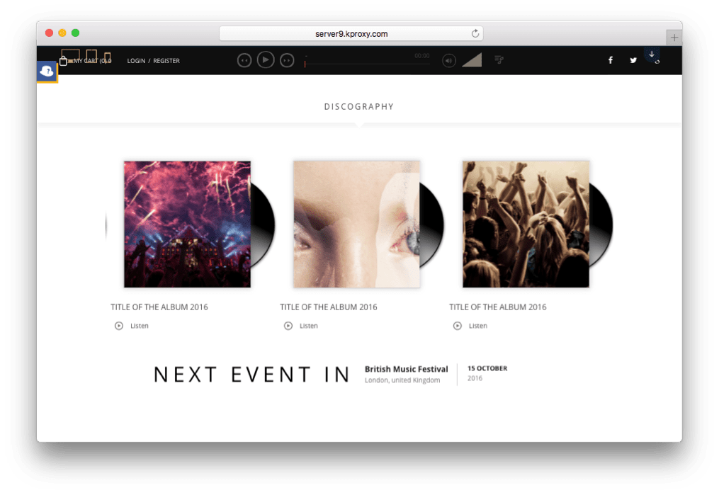 Superstar WordPress Music Band Theme