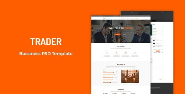 Trader Business PSD Template
