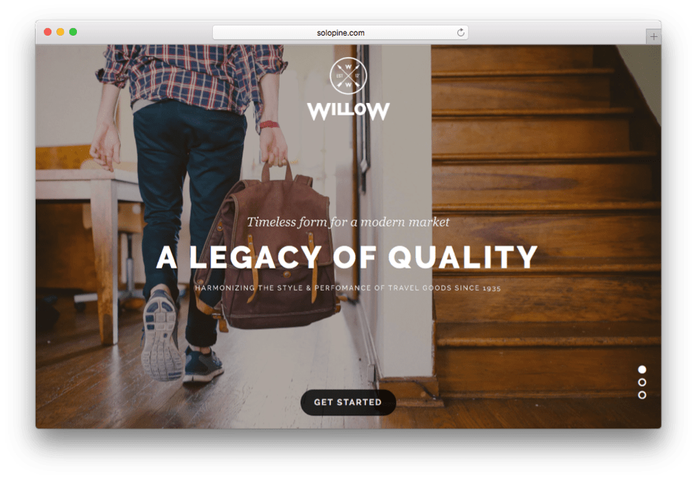 Willow One Page Multi-Purpose Theme