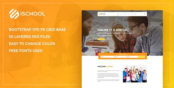 iSchool Education PSD Template