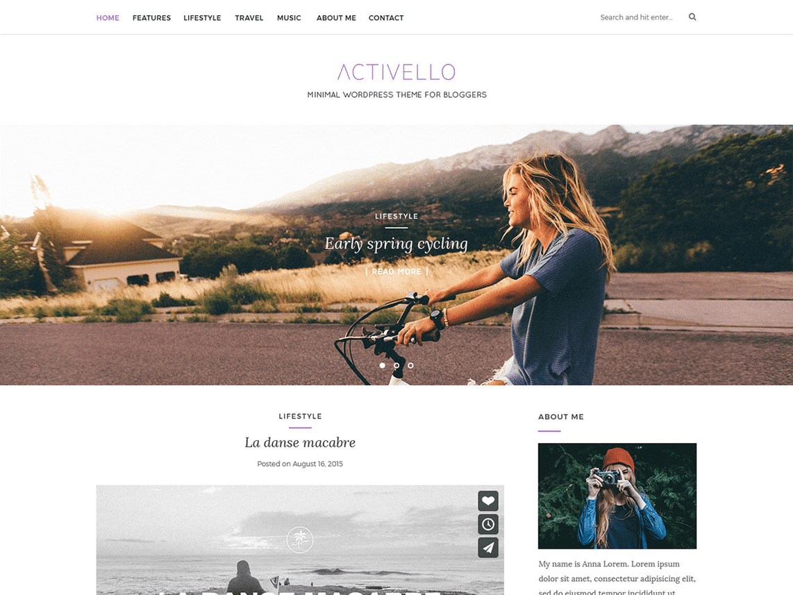 Activello Free WordPress Minimal Blog Theme