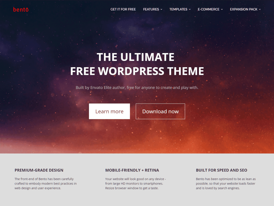Bento Free Premium WordPress Blog Theme