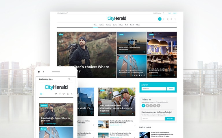 City Herald Magazine WordPress Theme