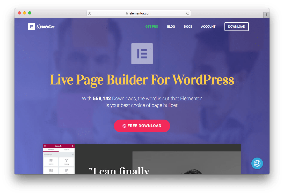 Elementor Page Builder WordPress Plugin