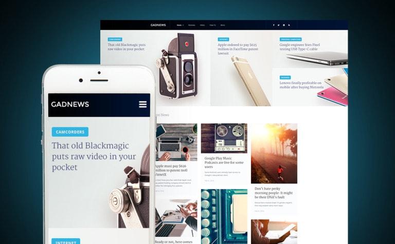 Gadnews Technology Review Magazine WordPress Theme